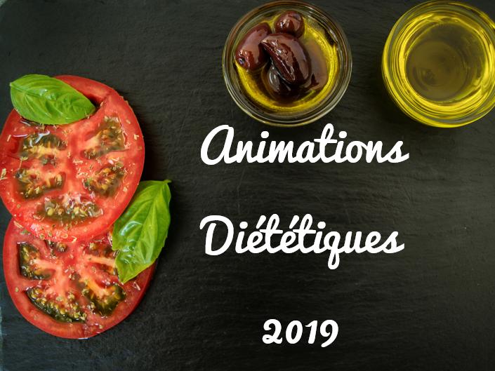 animations diététique le Val Brignoles 2019